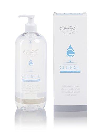 Gleitgel auf Wasserbasis von Develle 1000 ml. I Premium Gleitmittel I Geeignet für alle Latexkondome und Silikon-Toys
