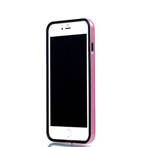 iPhone 8 Plus Hülle, iPhone 7 Plus Hülle, BONROY® TPU Schutzhülle für iPhone 8 Plus / 7 Plus Silikon Handyhülle Case Cover,TPU Case Helle Schale Painted Handytasche Weiche Zurück Tasche Etui Bumper Kr Rose