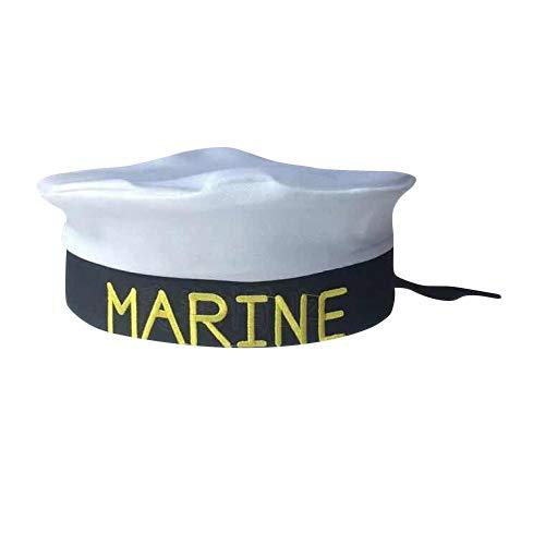 thematys Matrosen-Mütze Marine Herren Damen - Kostüm für Erwachsene & Kinder - perfekt für Fasching & Karneval - Einheitsgröße (A) (Marine Matrosen Kostüm)