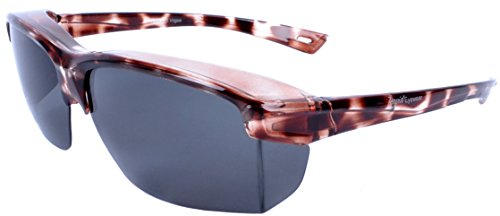 Rapid Eyewear 'Vogue' Tortoiseshell Polarized OVER GLASSES SUNGLASSES That Fit Over Your Spectacles For Ladies up to 140mm Wide. Ideal For Driving. UV400 Protection