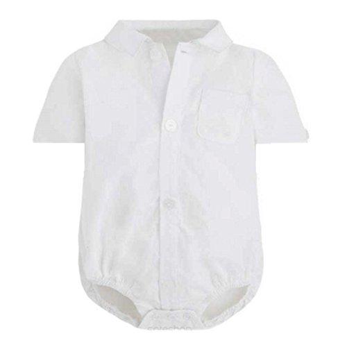 Baby Hemd - KURZARM Body für Jungen weiß Modell 5348 Gr. 74