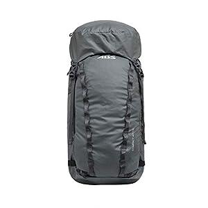 ABS Unisex– Erwachsene Lawinenrucksack Zip-on, Packsack für P.Ride Compact und S.Light Base Unit, 40+10L Volumen, Fach für Sicherheitsausrüstung, Ski-und Snowboardhalterung, Helmnetz, Mountain Grey
