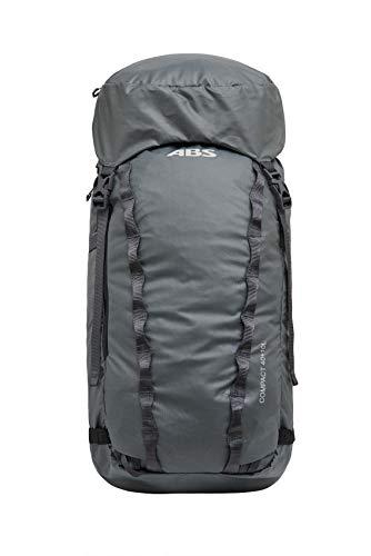 ABS Unisex- Erwachsene Lawinenrucksack Zip-on, Packsack für P.Ride Compact und S.Light Base Unit, 40+10L Volumen, Fach für Sicherheitsausrüstung, Ski-und Snowboardhalterung, Helmnetz, Mountain Grey