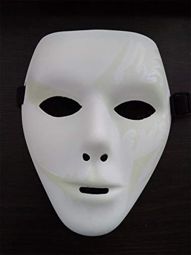 NUOKAI Halloween Horror Show Maske Maske Männlich Street Dance Handbemalt Maske Tänzerin Schwarz Vendetta Maske, Street Dance Weiße ()