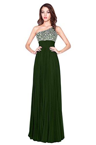 Victory bridal ladies'fashion guenstig forme de cœur avec fleur abendkleider taffetas promkleider partykleider brautjungfernkleider long Vert