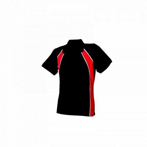 Finden & Hales - Polo sport - Femme Rouge/Noir/Blanc