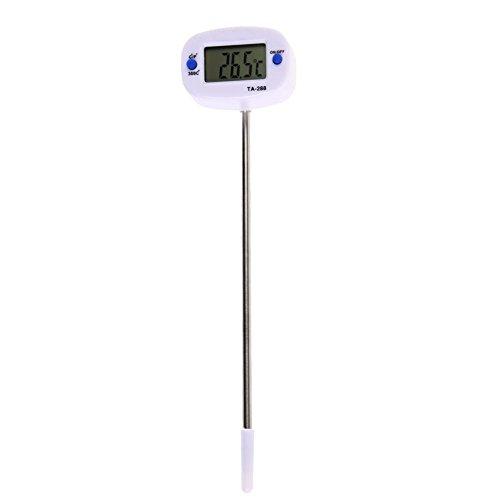 Everpert Sofortige digitale LCD Essen BBQ Fleisch Schokolade Ofen Kochen Sonde Thermometer (Fleisch, Digitale Thermometer)