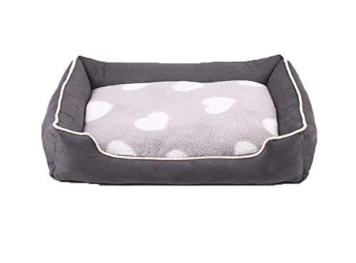 Maran Abnehmbares Hundebett Sofa bequemes weiches Hundebett Kissen leicht zu reinigen strapazierfähig Haustierkorb Bett mit wendbarem Kissen