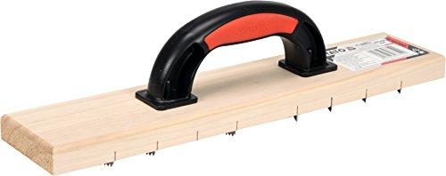 YATO Profi Raspelhobel für Porenbeton und Gips   405 x 84 mm   gezahnte Ausführung   Rabot Raspelbrett Gipshobel Trockenbau Hobel Kantenhobel