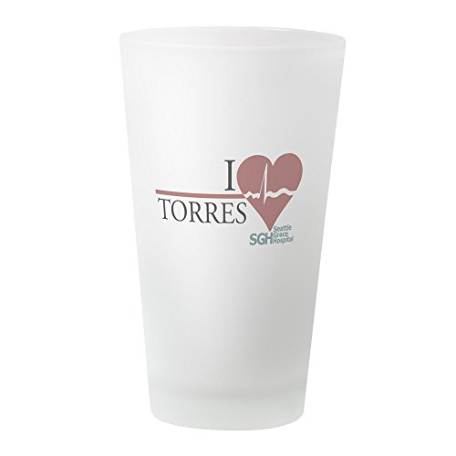 CafePress Pint-Glas I Heart Torres frosted