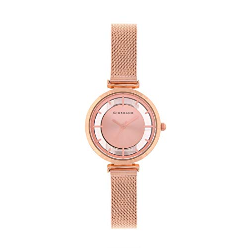 Giordano Analog Rose Gold Dial Women's Watch