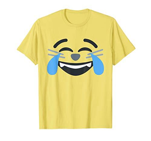 Tränen Katze Kostüm - Katzen Tränen Freude Emoji Lustig Halloween Gruppe Kostüm T-Shirt