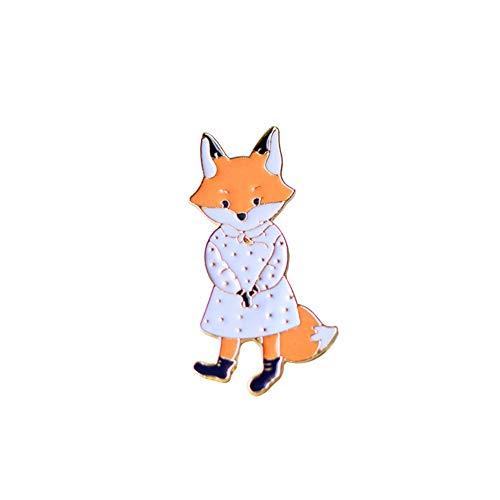 rosche Pin Kostüm Brosche Karikatur Weiblicher Fuchs Boutique Broschen Schmuck Anhänger Anstecknadel Dekoration für Damen Jacken Schals Kleidung Tasche Decor ()