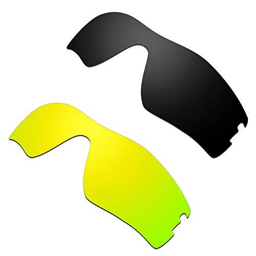 HKUCO Verstärken Ersatz-Brillengläser für Oakley Radar Pitch Schwarz/24 Karat Gold Sonnenbrille