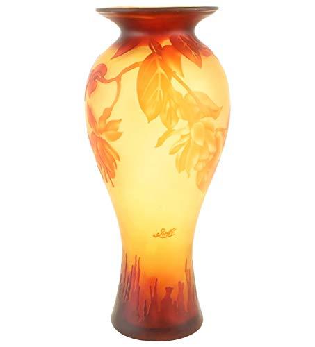 nach Galle Gallé Glasvase Glas Antik-Jugendstil-Stil Kopie c5 ()