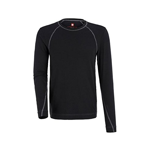 Thermounterwäsche Shirt e.s. cotton stretch Longsleeve Schwarz Gr. M