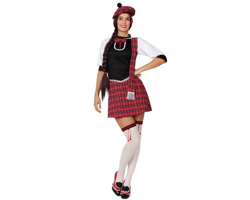 Imagen de atosa  disfraz de escocesa para mujer, talla xs 15265