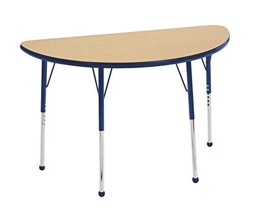 ECR4Kids elr-14825-mnv-tb Mesa t-mould 61x 121,9cm Hälfte rund Aktivität Schule Tisch Kleinkinder, Beine W/BALL gleitet, höhenverstellbar 38,1cm 23