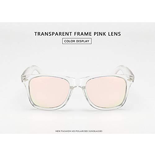 Taiyangcheng Männer Polarisierte Sonnenbrille Fahren Sonnenbrille Männer Frauen Spiegel Beschichtung Objektiv Eyewear,TR Pink