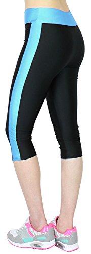 Caprihose Damen 3/4 Fitness Leggings mit Tasche - 2