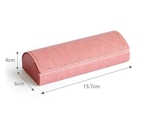 FOOBRTOPOO Portable Gläser Box Hard Brillen Fall mit Magnetic für Männer und Frauen (Pink)