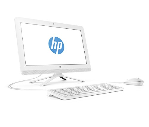 HP 20-c000nf PC de bureau Tout-en-Un 20' Blanc (AMD Quad-Core E2-7110 , 4 Go de RAM, 1 To, AMD Radeon R2, Windows 10)
