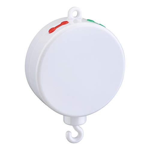 【Neue Version】TopElek Elektrische Baby Spieluhr mit 128 MB Micro-SD-Speicherkarte(Erweiterbar bis 2 GB) für Ihr Babymobile, 12 Melodien inklusive.