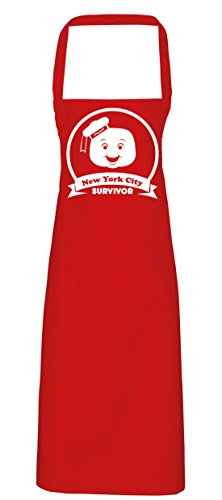 hippowarehouse New York City Marshmallow Survivor Schürze Küche Kochen Malerei DIY Einheitsgröße Erwachsene, rot, Einheitsgröße