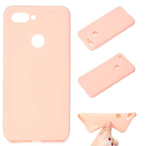 Leicht R&um-Schutzhülle für Xiaomi Mi 8 Lite TPU-Hülle / Mi8 Youth Hülle Handyhülle, Ultraleicht Silikon-Handyhülle (Pink) Kollision Hülle. TU2