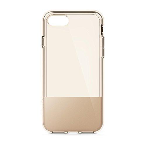 Belkin SheerForce Schutzhülle (TPU, Sturzsicherheit, Anschlüsse frei zugänglich, geeignet für iPhone 8/7)Gold