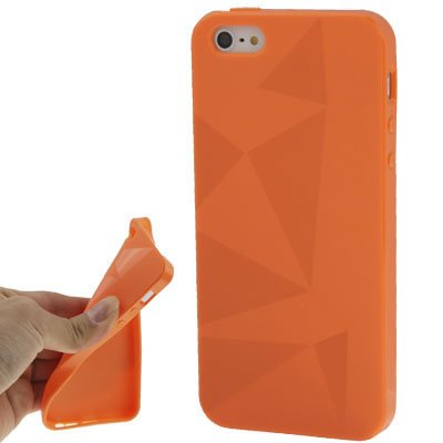 "Coque/iPhone 5/5S en silicone orange style ""Triangle - Original seulement de thesmartguard"