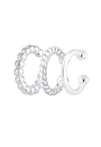 Elli Ohrringe Earcuff 3er Set Kugel Geo Minimal 925 Silber