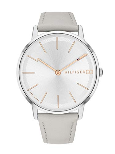 Tommy Hilfiger Damen Analog Quarz Uhr mit Leder Armband 1781937