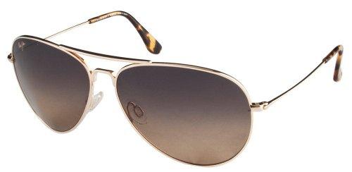 Maui Jim Aviator Sunglasses (Golden) (Mavericks HS264-16 )