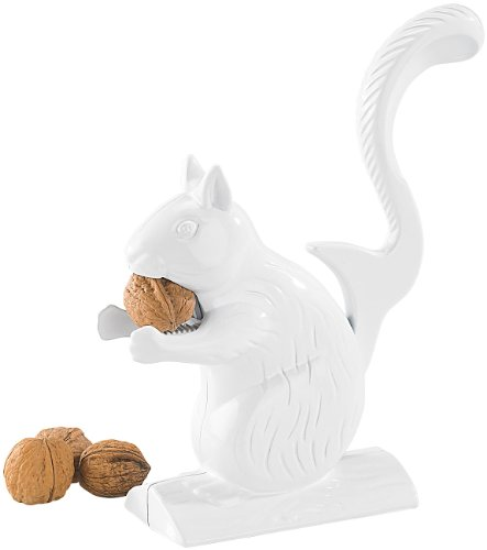 Rosenstein & Söhne Designter Nuss-Knacker: Gusseisen-Nussknacker im Eichhörnchen-Design (Nuss-Zange)