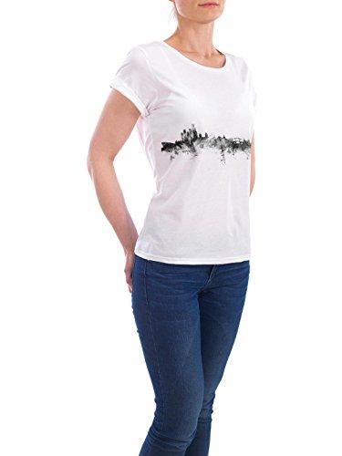 """Design T-Shirt Frauen Earth Positive """"Amsterdam"""" - stylisches Shirt Städte Städte / Amsterdam Reise Architektur von Michael Tompsett Weiß"""