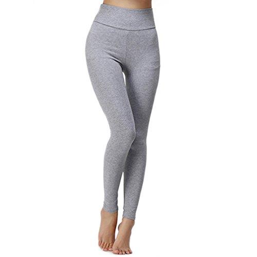 samgoo-damen-leggings-sport-yoga-jogginghose-baumwolle-lange-fitnesshose-s-hellgrau