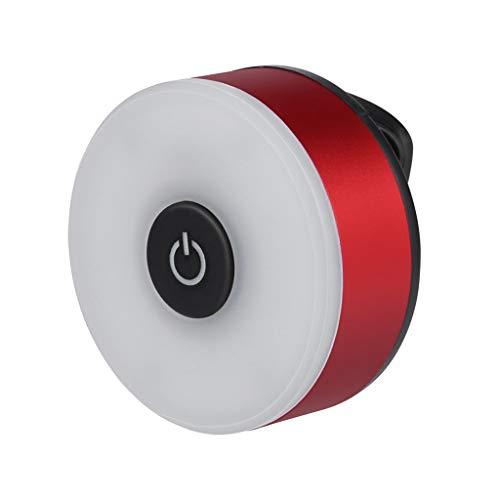 LED Rücklicht,Nourich Wasserdicht Intelligente Induktions Fahrradbeleuchtung Fahrradlicht, Fahrradleuchte, Fahrradlampe Fahrradlicht, USB Lade Fahrradlichter Für Camping Angeln Wandern (Rot)