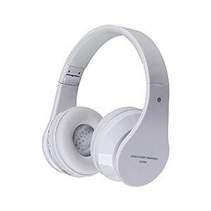 Healifty AT-BT809 Faltbarer Drahtloser Bluetooth-Stereo-Kopfhörer mit Mikrofon/FM / TF-Karte (weiß)