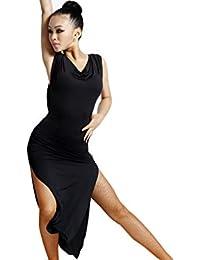 motony Donne Nuovo Stile Costume Adulto Latina Come Vestito da Ballo Latin  Dance Performance Gonna Nero 9fe0700fce8