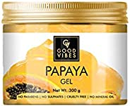 Good Vibes Papaya Gel - 300 g - Hydrating and Anti-Ageing Formula - Prevents Pigmentation and Hair Breakage -