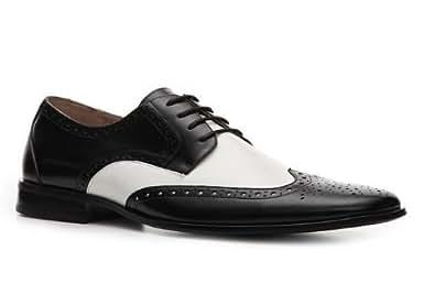 """STACY ADAMS Chaussure pour homme"""" Nolan"""" en cuir couleur noir et blanc (45)"""