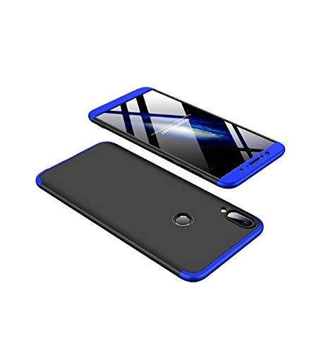 Sanguine 360 Degree Full Protection -Black with Blue- Hard Matte Case Luxury 3 in 1 Shockproof Cover Full Body for Asus Zenfone Max Pro M1
