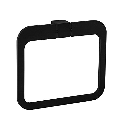 Wand-Handtuchhalter Bad Handtuchring Edelstahl schwarz matt - Modell B069 | Badetuchhalter für die Wandmontage | Möbelbeschläge von GedoTec®