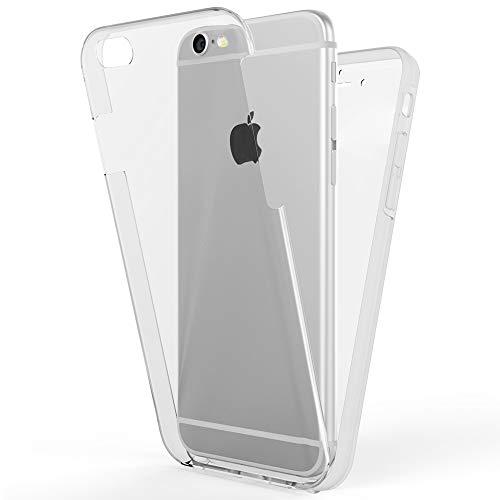 NALIA 360 Grad Handyhülle kompatibel mit Apple iPhone 6 6S, Full-Cover Silikon Bumper mit...