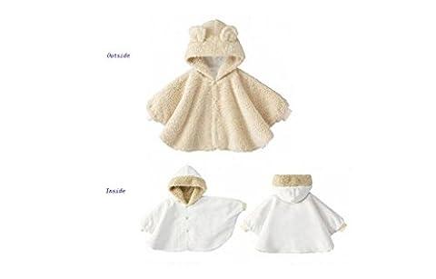 Genda 2Archer Joli bébé vêtements manteau capuche Bunny bébé Cape manteau (90CM(6-12months))
