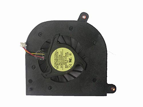KENAN 3 pins/Wires CPU Cooling Fan for Toshiba Satellite P200 P205 X205 Series Laptop. FORCECON F6J1-CCW DFS531205PC0T DC5V 0.5A. -