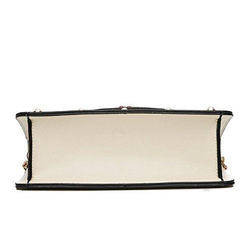 Frühling Und Sommer Neue Messenger Bag Damen Koreanische Version Der Kleinen Quadratischen Tasche White