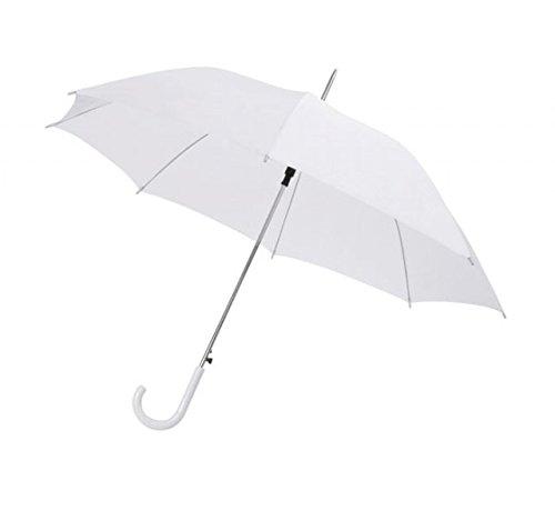 Ten Ombrello bianco da sposa con manico plastica bianca automatico - cod. EL21003 - Lun.106 cm - Lar.106 cm - Alt.85 cm by Varotto & Co.