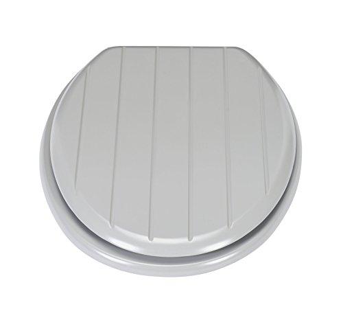 Shaker-stil Holz (Delex Excellent antibakteriell im Shaker-Stil geformten Holz WC-Sitz, Grau)